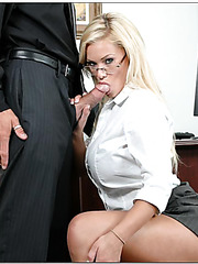 Engaging, perfect blonde sweetie Shyla Stylez excites with her boobs, face and ass