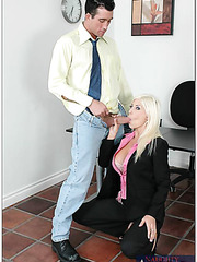 Glamorous and topnotch woman Puma Swede has a lot of sweet things to seduce her co-worker