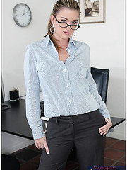 Buxom Taylor Ash is tired of dull office work and decides to achieve hot orgasms