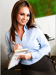 Unforgettable threesome with two hot office sweeties Devon Lee and Holly West