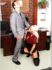 Glamorous, tanned minx Lachelle Marie is too sexy for dull office work