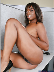 Mature Ebony lady named Monique gets naked and pounded by a big cock