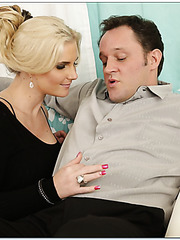 Delicious blonde milf Phoenix Marie getting nailed with a very hard stick