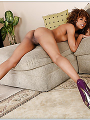 Sexy ebony Misty Stone enjoying her time all alone naked at home