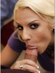 Busty blonde milf Lylith Lavey having some fun with her boyfriends stick