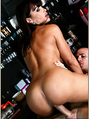 Well known pornstar Lisa Ann is sucking a hard cock and being banged hard