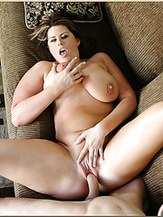 Busty milf Lisa Sparxxx knows hot to exactly please her man with her body
