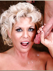 Naughty mature slut Claudia Marie being nailed hard in her twat