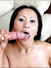 Wonderful Asian babe Kitty Langdon enjoys a good and a hard cock in her