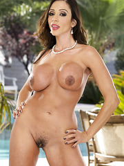 Hot milf Ariella Ferrera with her huge melons is having a good time outside