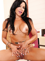 Hot Milf babe Viana Milian pleasing her wet pussy with her naughty fingers