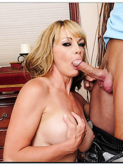 Charming hooker Shayla LeVeaux is always glad to swallow her friend's rod