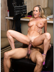 Chubby coquette Brandi Love enjoying a big cock and getting satisfied