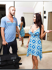 Unpredictable whore Ava Addams wants to please her friend with a blowjob