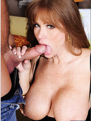 Goodly mature Darla Crane prefers banging with young sexy guys