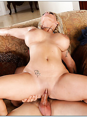 Winsome pornstar Holly Halston loves riding dicks and swallowing cum