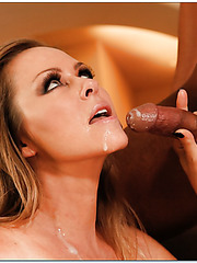 Flawless babe Dyanna Lauren dealing with young sexy fellows and their rods