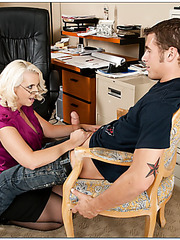 Divine whore Mandy Sweet banging at work and reaching satisfaction