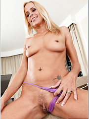 Bad girl Payton Leigh demonstrating tiny tits and spreading sissy