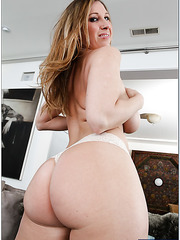 Sparkling wife Devon Lee shows big ass and tries to masturbate a little