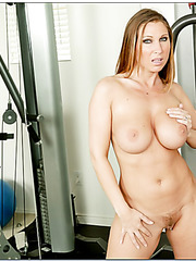 Sportive babe Devon Lee doing a hard workout and showing boobies