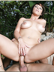 Delectate whore Kayla Synz riding boyfriend's dagger at the pool