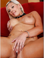 Skylar Price demonstrates her naughty pussy and puts a cock in the mouth