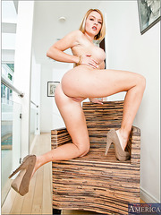 Slutty lady Krissy Lynn feels a big dick in the shaved and tight pussy