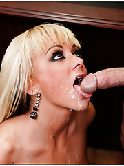 Buxom blonde doll Briana Blair turns this dull workday into unforgettable fucking action