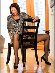 Crazy mature Vanessa Videl masturbating on the chair and getting pleased