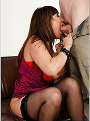 Cuddly milf Ava Devine prefers to swallow and ride big cocks all day long