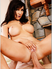 Ravishing babe Diana Prince riding on a big dick and waiting for a creampie