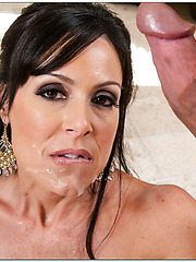 Adorable milf Kendra Lust banging with her friend and getting a cumshot