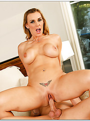 Cool pornstar Tanya Tate showing big ass and fucking with her neighbor