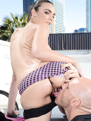 Dreamy milf Tiffany Tyler loves playing with big delicious daggers