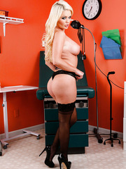 Adorable blonde Alexis Ford demonstrates her forms and masturbates hard