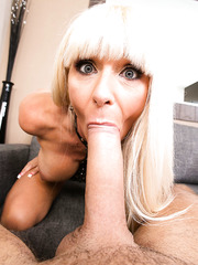 Posh mature Kasey Storm prefers swallowing young cocks and riding them