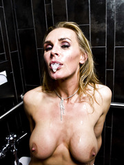 Elegant blonde Tanya Tate banging hard with her boyfriend after dinner