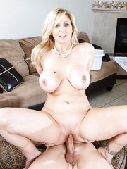 Stunning milf Julia Ann enjoying a young wiener and reaching sexual peak
