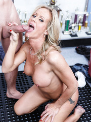 Stunning hooker Simone Sonay loves banging with young boys and making blowjobs