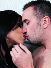 Exquisite pornstar Romi Rain adores working with big dicks and sucking balls