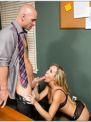 Sportive Brandi Love banging with sexy employees and reaching satisfaction