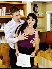 Glamorous Sophie Dee prefers fuck with young fellows in the library