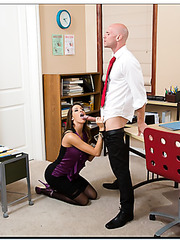 Crazy Kortney Kane prefers to fuck with handsome guys during work hours