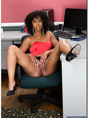 Amazing girl Misty Stone rubbing small tits and getting drilled in ass