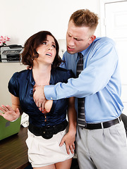 Lovely Krissy Lynn trying to get satisfied and fucking with her new employee