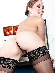 Petite chick Remy LaCroix showing trimmed snatch and getting nailed