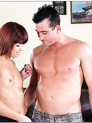 Crazy slut Audrianna Angel loves dealing with big wiener and getting cumshots