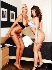 Delicious whores Ava Devine and Puma Swede are fond of sucking hard dicks