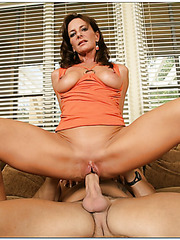 Stunning milf Sarah Bricks showing her hot body and making a real blowjob